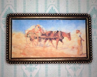 Miniature 1:12 Dollhouse Painting - Frederick McCubbin - The North Wind