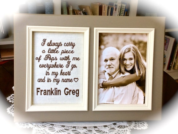 Father personalized 5x7 picture frame Father\'s Day gift Dad photo ...