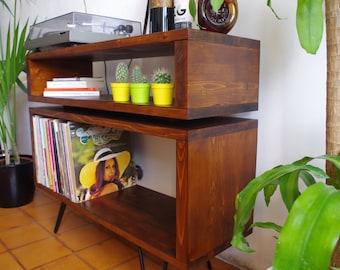 Sideboard Stay Rustic Scandinavian Mid Century Modern TV vinyl