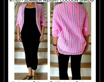 CROCHET PATTERN shrug, Summer weight shrug, Double knitting pattern, crochet shrug for small to plus size, #1065, easy shrug crochet pattern