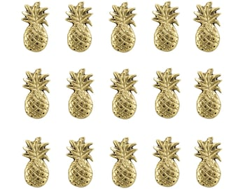 PINEAPPLE Push Pins , Set of 15pcs, **FREE SHIPPING**Usually Ships the Same Day **