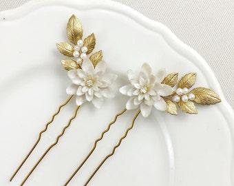 Marguerite hair pins - set of 2