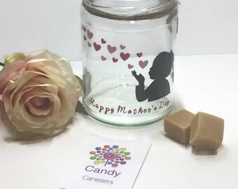 Blowing kisses - Mother's Day Fudge Gift Jar