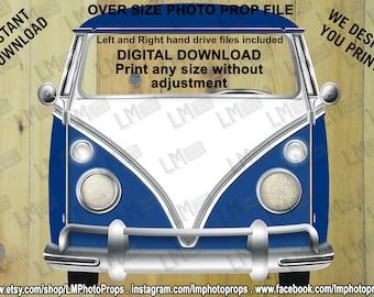 VW Style, Camper Van, Kombi, Car, Instant Download, DIY, Digital Download, Volkswagen Style, Retro, VW style Bus, Volkswagen Style Bus, Bus