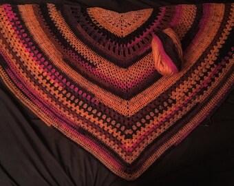 Wool/Mohair Shrug/Shawl