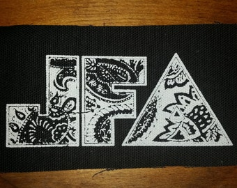 JFA PATCH - punk thrash black canvas