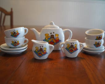 Teddy Bears Picnic 12 piece Children's China Tea Set by PMS Play Food Set
