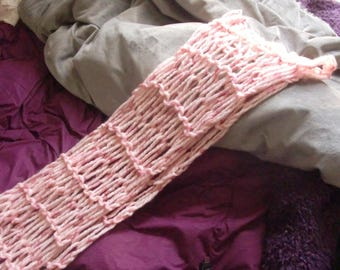 "scarf ""very soft pastel pink"""