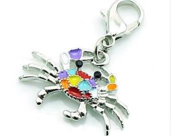 Crab Charms pendant