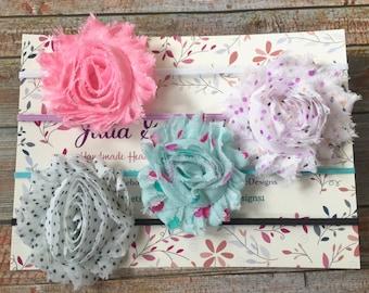 Set of 4 Baby Headbands/Baby Headband Set/Baby Headband/Newborn Headband/Infant Headband/Toddler Headband/Baby Girl Headband/Baby Hair Bows