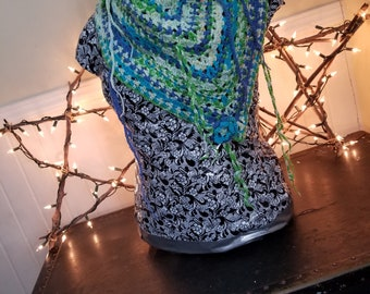 Crochet all season shawl / wrap  / scarf
