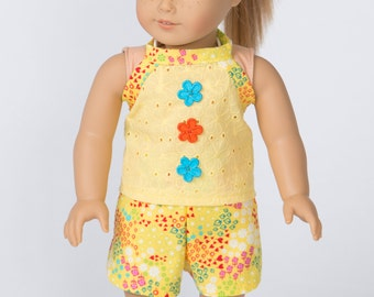Summer's Here! Top and Shorts for 18-Inch Doll