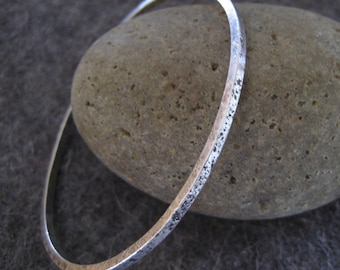 Organic Bangle Sterling Silver Bracelet