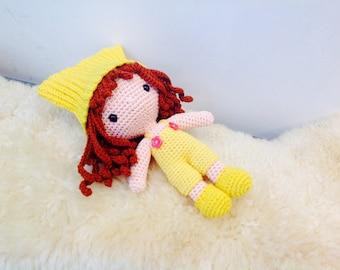 Baby Girl, Crochet Doll, Rag Doll, Handmade doll, Bedtime Doll, Girl Lalylala, Amigurumi doll, Crochet Doll, Cuddly Doll