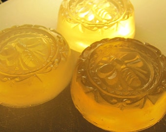 Shower Favors, Wedding Favors, Small Gifts - 30 Wrapped Bee Honey Soaps