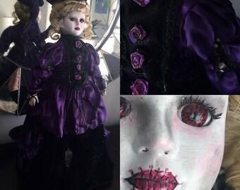 Arsynne - OOAK Halloween Porcelain Doll