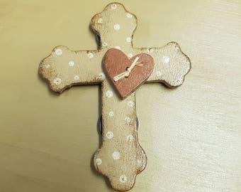 Wooden cross magnet