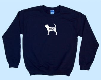 "Bloodhound ""DAD"" - Dog Crewneck Sweatshirt"