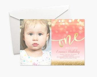 Baby Girl First Birthday Invitations Elitadearest