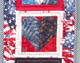 Fourth of July, Patriotic Decoration, Wall Hanging, Door Decoration, Table Topper, Wreath, Red White Blue, Summer