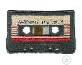 Guardians of the Galaxy Patch - Awesome Mix Vol 1 - Geeky Embroidered Movie Iron on Patch or Applique