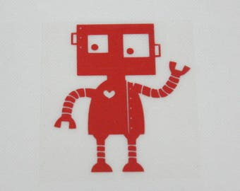 Pattern/transfer in flex fusible red robot