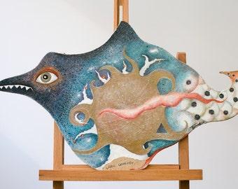 Sea Bird. BIRDS series. Painting.