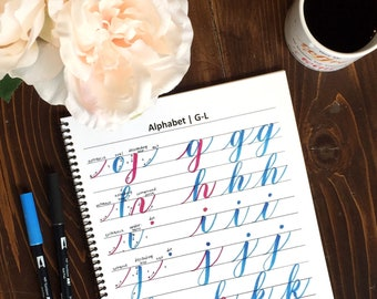 Intro to Brush Lettering Workbook - PDF Instant Download