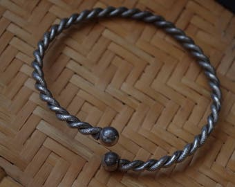 Whirlwind Silver Cuff for Arm or Wrist