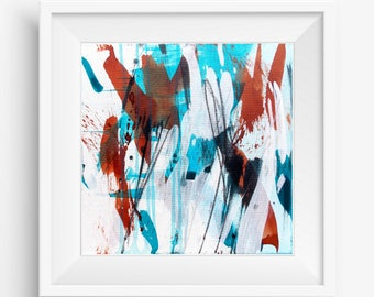 Abstract Expressionist Print, Digital Print, Abstract Printable Art, Abstract Art Print, Square Abstract Print - Meditation Series