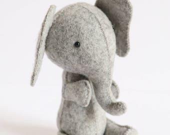 Elephant PDF pattern, elephant sewing PDF, softie pdf pattern, DIY elephant pattern, felt elephant pdf, plush pdf pattern, E is for elephant