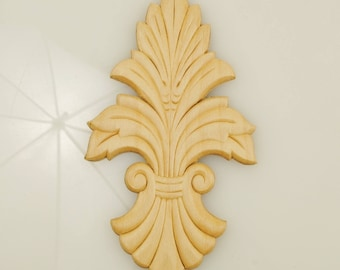 Wood Applique 3-1/2 X 6-3/8 Inches