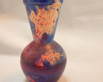 Mothers Day gift, gift for her, multi-colored maple wood bud vase or weed pot. Dyed with wood dyes