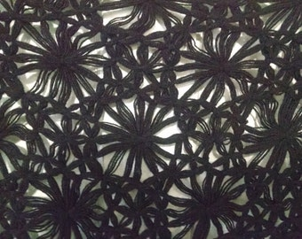 Vintage Knitted Black Shawl