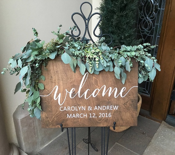 Wedding Welcome Sign Wood Welcome Wedding Sign Welcome Sign