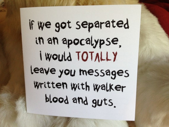 Valentineu0027s Day /Any Occasion Walking Dead Greeting Card U0026 Word Search    Maggie, Glenn, Walker Blood Messages, Love,