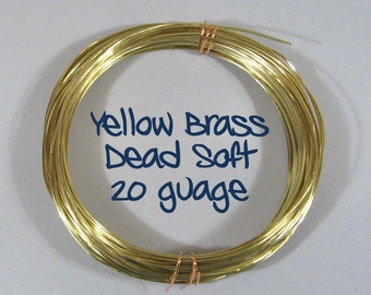 20ga 25ft DS Yellow Brass Wire