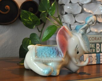 Vintage Ceramic Baby Elephant Planter, 03 USA