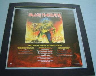 Iron Maiden The Number Of The Beast  Original  Poster in A Custom Made Mount Ready To Frame