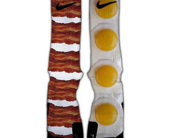 Bacon and Eggs Nike Elite Socks