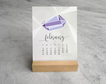 2019 Desk Calendar | Birthstone Calendar 2019 | Gemstone Desk Calendar | Jewels