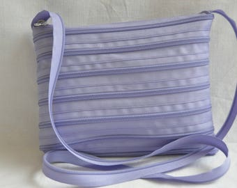 handbag zipper purple 21 cm x 16 cm, handle-115 cm