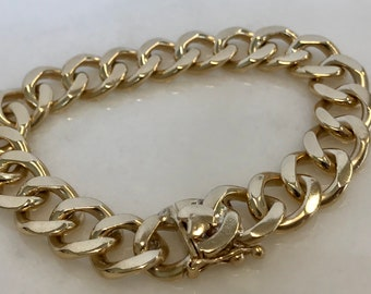 Incredible 14k Yellow Gold Curb Link Bracelet