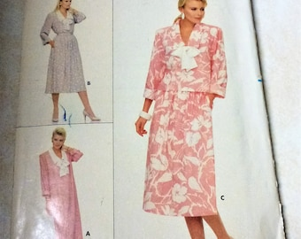 1986 Butterick Sewing Pattern Women's Size 8-10-12