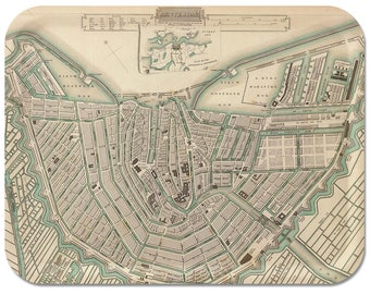 "Amsterdam 1835 Map Tray 16"" 1/2""x12"" 1/2"