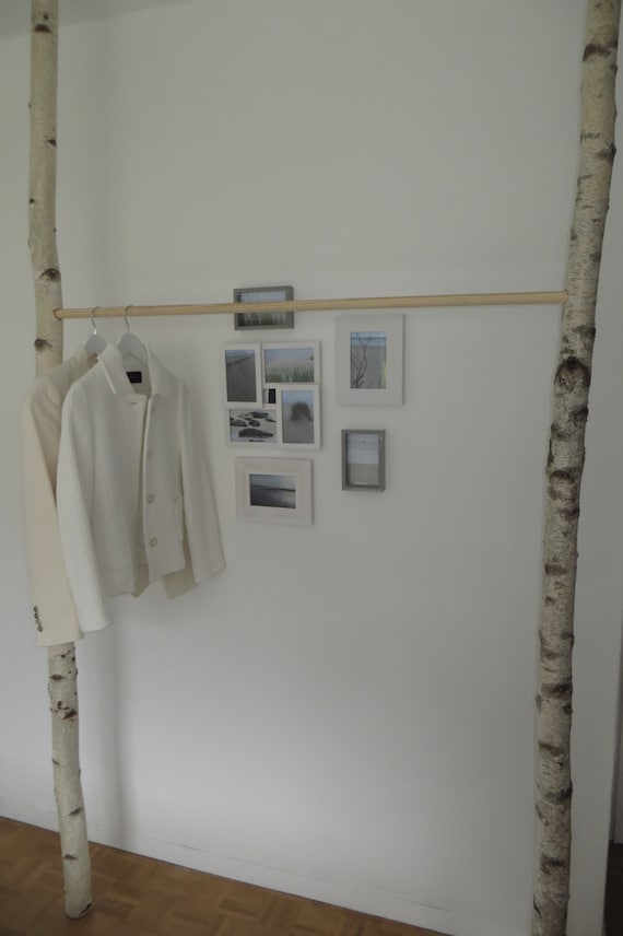 Kleiderstange Holz kleiderstange birke mit holz oder metallstange