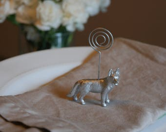 Dog Place Card/Escort Card Holders - Silver