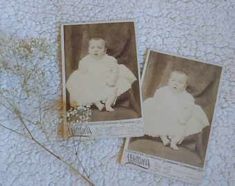 Vintage Photography. Baby Girl