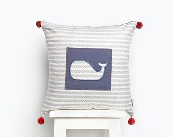 Mama Whale Cushion Covers, Baby Cushion Cover, Cushion Covers, Baby Cushion, Nursery Cushion Cover, Nursery Cushion