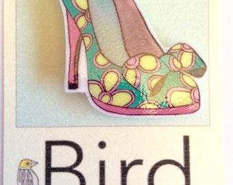 High Heeled Shoe Pin Brooch